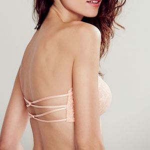 NWT Free People nude essential bandeau lace bra